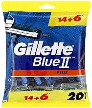 Kup Jednorazowe maszynki do golenia, 14 + 6 szt. - Gillette Blue II