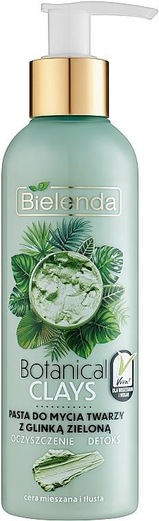 Wegańska pasta do mycia twarzy z glinką zieloną do cery mieszanej i tłustej Oczyszczenie i detoks - Bielenda Botanical Clays