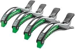 Kup Zaciski do włosów, czarno-zielone - Dajuja Penguin Clip Black-Green