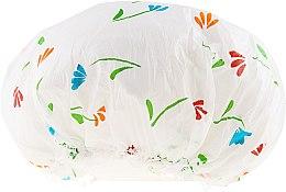 Kup Czepek pod prysznic, 9298, biały w kwiaty - Donegal Shower Cap