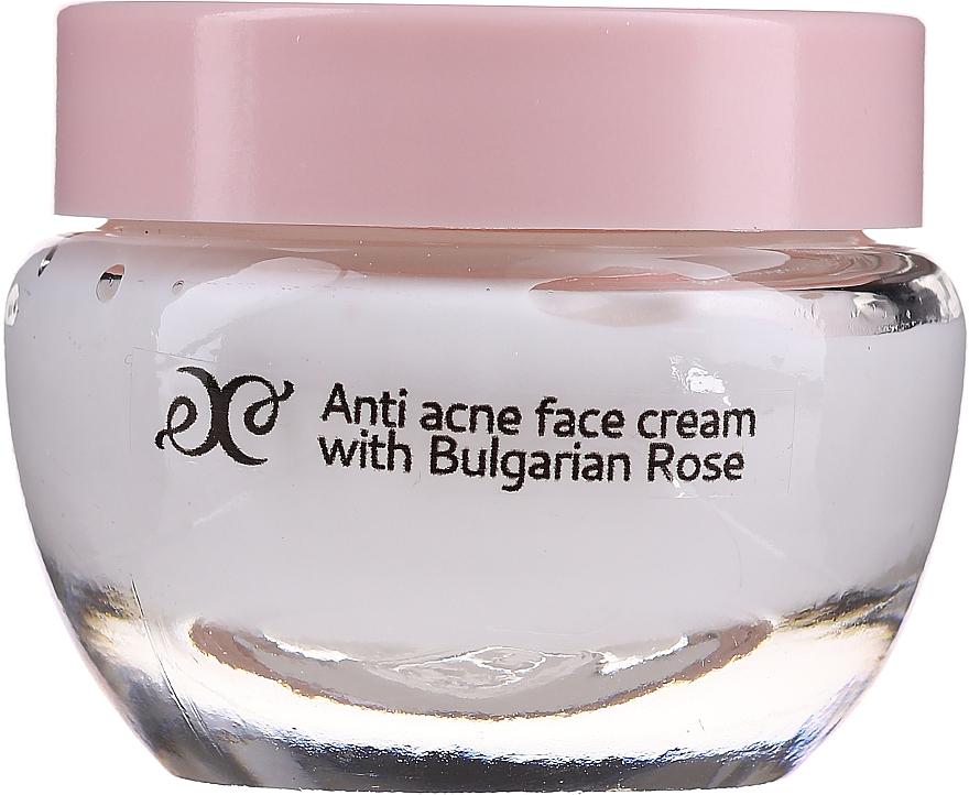 Kojący krem do twarzy z olejkiem różanym - Hristina Cosmetics Rose Anti Acne Face Cream — фото N1