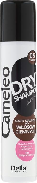 Suchy szampon do ciemnych włosów - Delia Cameleo Brown Hair Shine Dry Shampoo — фото N1