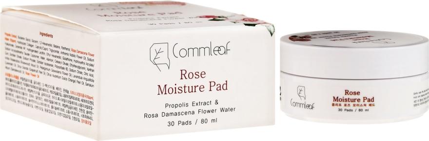 Różane płatki nawilżające - Commleaf Rose Moisture Pad