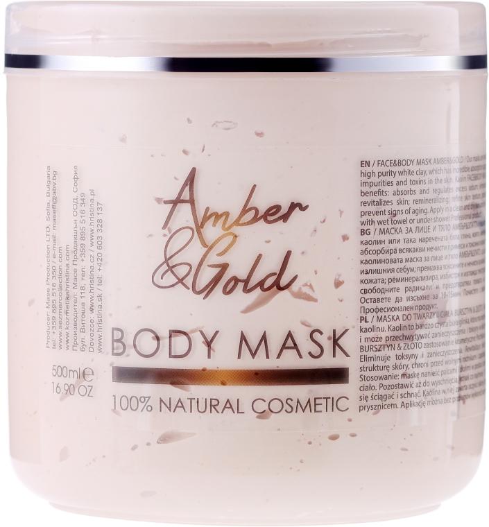 Maska do ciała Bursztyn i złoto - Sezmar Collection Professional Body Mask Amber & Gold — фото N1