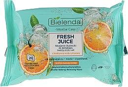 Kup Micelarne chusteczki do demakijażu twarzy, oczu i ust Pomarańcza - Bielenda Fresh Juice