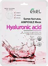 Kup Maska na tkaninie do twarzy z kwasem hialuronowym - Ekel Super Natural Ampoule Mask Hyaluronic Acid