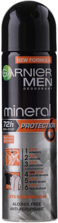 Antyperspirant w sprayu dla mężczyzn - Garnier Mineral Men Deodorant Protection 6