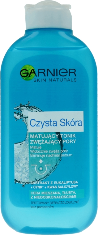 Matujący tonik zwężający pory Czysta skóra - Garnier Skin Naturals