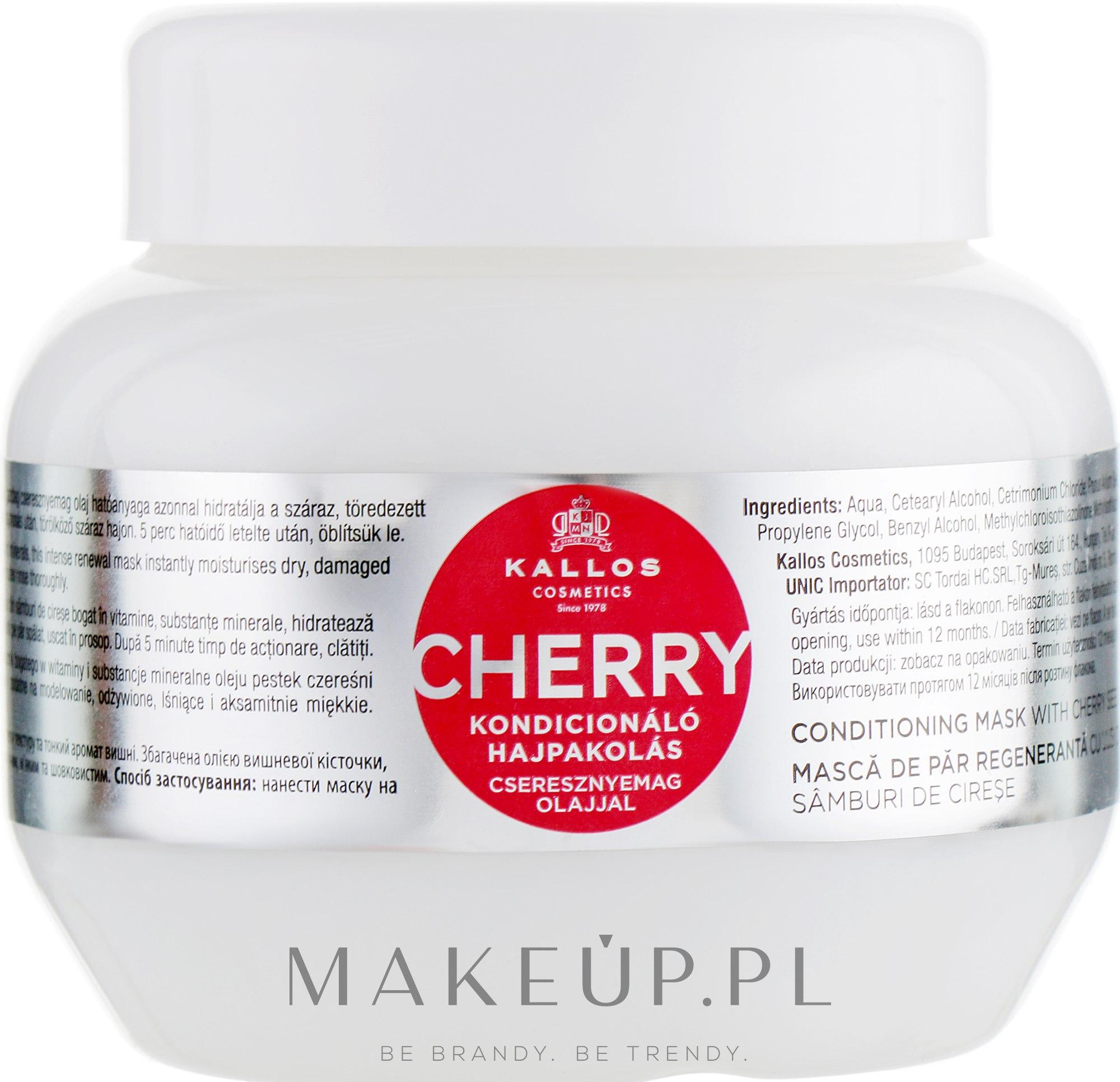 Kondycjonująca maska do włosów z olejem z pestek czereśni - Kallos Cosmetics KJMN Conditioning Mask With Cherry Seed Oil — фото 275 ml