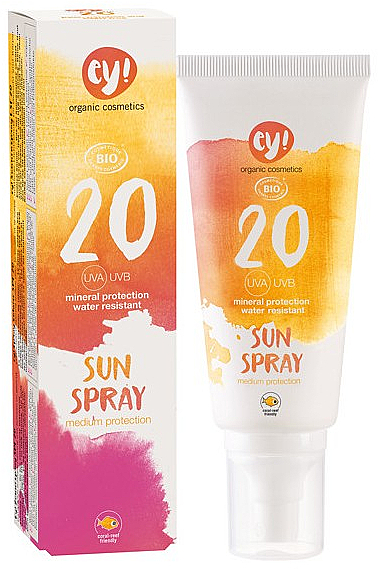 Spray do ciała z filtrem przeciwsłonecznym SPF 20 - Ey! Organic Cosmetics Sunspray — фото N1