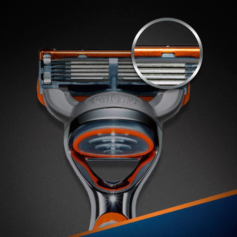 Wymienne wkłady do maszynki, 2 szt. - Gillette Fusion Power — фото N4