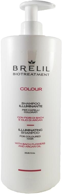 Nabłyszczający szampon do włosów farbowanych - Brelil Bio Treatment Colour Illuminating Shampoo For Coloured Hair — фото N1