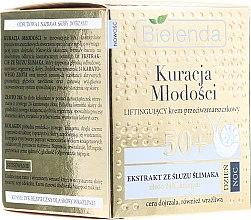 Kup Liftingujący krem przeciwzmarszczkowy do twarzy z ekstraktem ze śluzu ślimaka 50+ - Bielenda Kuracja młodości