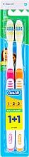Kup Szczoteczki do zębów, 40 średnia twardość, różowa + pomarańczowa - Oral-B 1 2 3 Maxi Clean