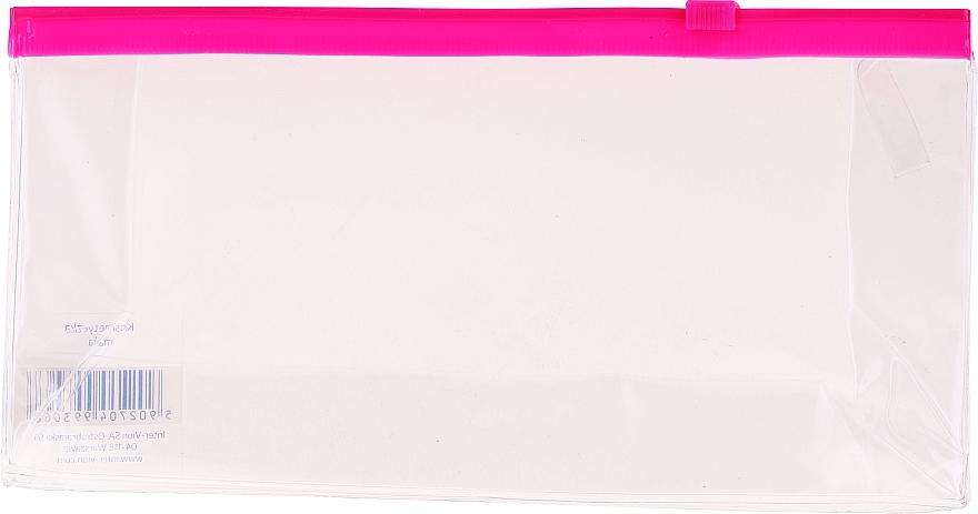 Kosmetyczka podróżna, 499306, przezroczysta z różowym suwakiem - Inter-Vion 499306 — фото N1