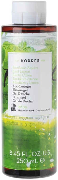 Żel pod prysznic Bazylia i cytryna - Korres Basil Lemon Shower Gel — фото N1