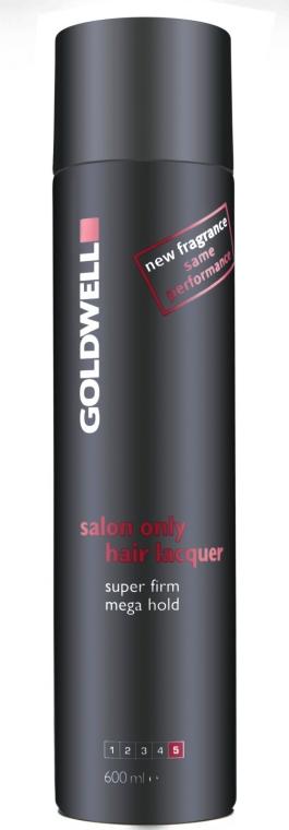 Bardzo mocny lakier do włosów - Goldwell Salon Only Lacquer Black Super Firm