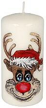Kup Świeca dekoracyjna Rudolf, biała, 7 x 10 cm - Artman Christmas Candle Rudolf