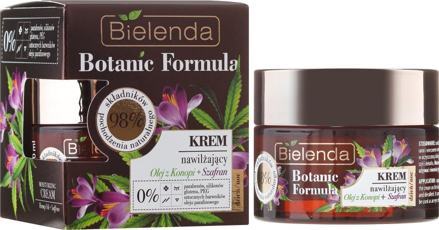 Nawilżający krem do twarzy na dzień i noc Olej z konopi + szafran - Bielenda Botanic Formula