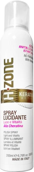 Nabłyszczający spray do włosów z keratyną - H.Zone Keratine Active Spray Lucidante Polish Spray — фото N1