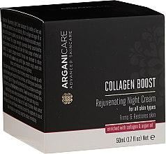 Kup PRZECENA! Odmładzający krem do twarzy na noc - Arganicare Collagen Boost Rejuvenating Night Cream *