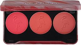 Kup Paleta różów do policzków - Makeup Revolution Flamingo Mini Trio Blush Palette Oh My Blush