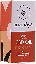 Kup PRZECENA! Olej CBD poprawiający koncentrację i skupienie - Manaya 5 % CBD Oil Focus *