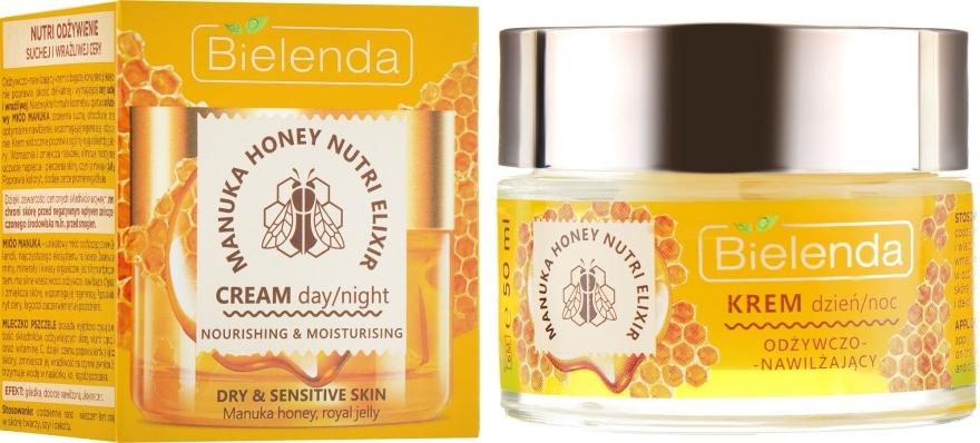 Odżywczo-nawilżający krem do twarzy Miód Manuka i mleczko pszczele - Bielenda Manuka Honey Nutri Elixir Day/Night Cream — фото N1