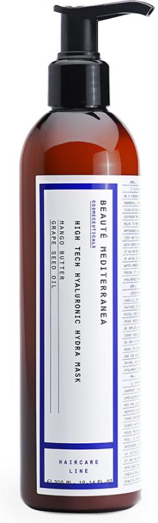 Nawilżająca maska hialuronowa do włosów - Beaute Mediterranea High Tech Hyaluronic Hydra Mask — фото N1