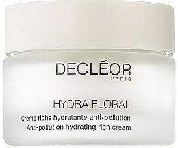 Kup Bogaty krem nawilżający do twarzy chroniący przed zanieczyszczeniami - Decléor Hydra Floral Anti-Pollution Hydrating Rich Cream