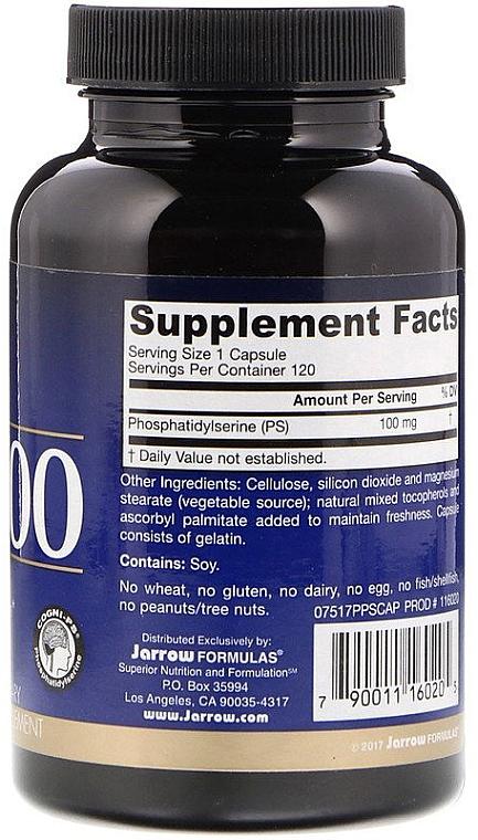 Fosfatydyloseryna w kapsułkach - Jarrow Formulas Phosphatidylserine PS100 100 mg — фото N3