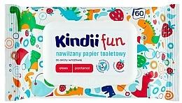 Kup Nawilżany papier toaletowy do skóry wrażliwej - Kindii Fun