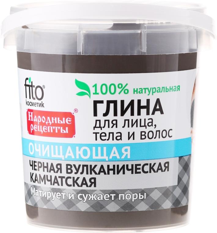 Czarna kamczacka glinka oczyszczająca do twarzy, ciała i włosów - FitoKosmetik Przepisy ludowe