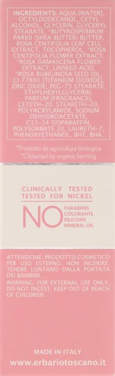 Łagodzący krem do skóry delikatnej i wrażliwej - Erbario Toscano Biocomplex Pure Rose Sensitive Skin Face Cream — фото N3