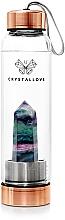 Kup Butelka na wodę z kryształem fluorytu, 550 ml - Crystallove Fluorite Bottle Rose Gold