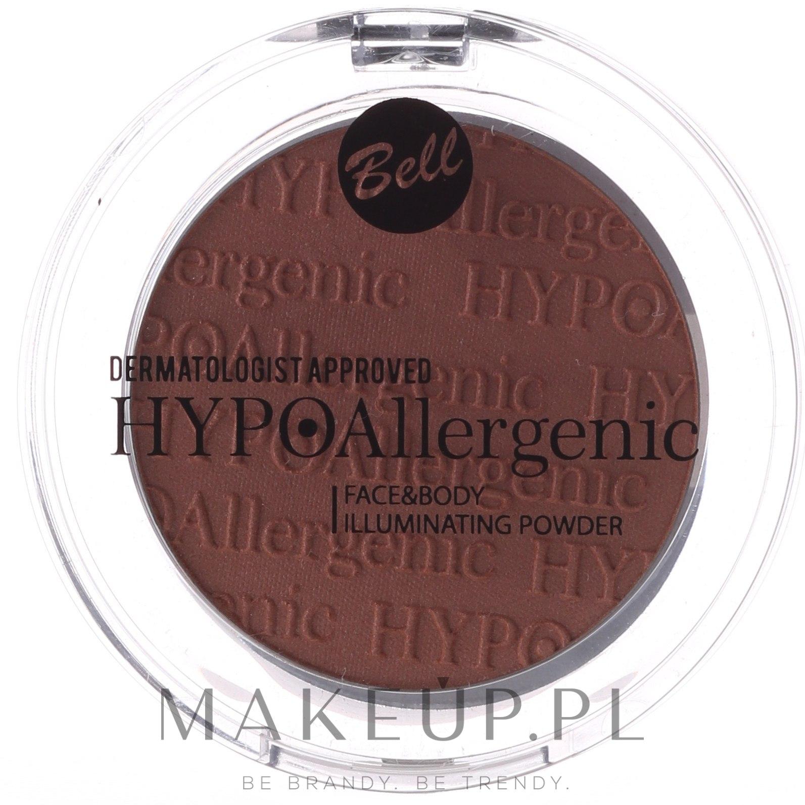 Hipoalergiczny rozświetlacz do twarzy i ciała - Bell HYPOAllergenic Face & Body Illuminating Powder — фото 02