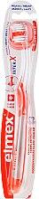 Kup Miękka szczoteczka do zębów przeciw próchnicy, przezroczysto-pomarańczowa - Elmex Toothbrush Caries Protection InterX Soft Short Head