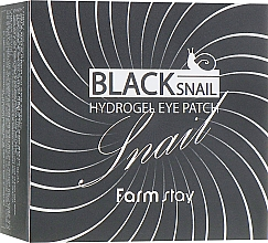 Kup Hydrożelowe płatki pod oczy z mucyną czarnego ślimaka - FarmStay Black Snail Hydrogel Eye Patch