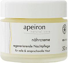 Kup Odżywczo-regenerujący krem na noc - Apeiron Nourishing Regenerating Night Cream