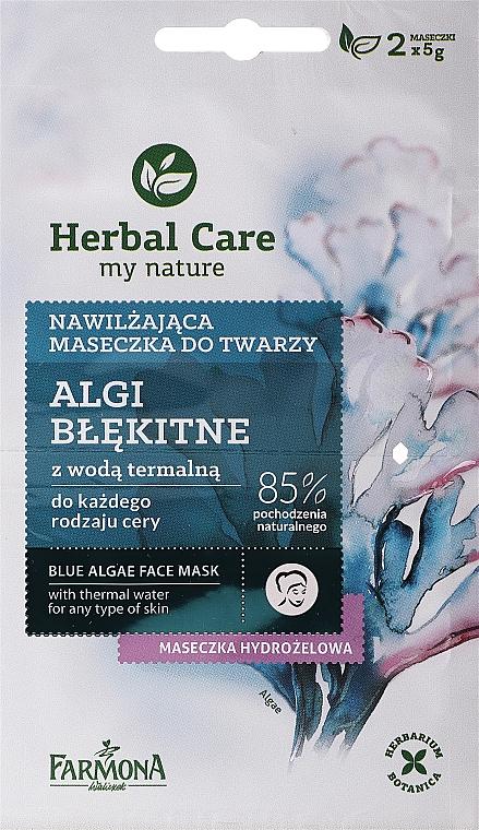 Nawilżająca maseczka do twarzy Algi błękitne - Farmona Herbal Care