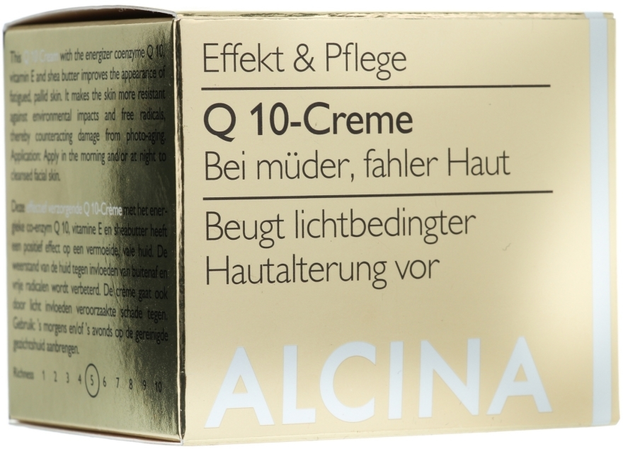 Krem do twarzy z koenzymem Q10 - Alcina Q 10 Facial Cream — фото N1