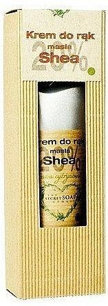 Krem do rąk Trawa cytrynowa - The Secret Soap Store Hand Cream 20% Shea Lemongrass — фото N1