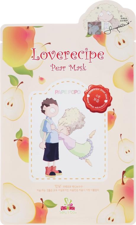 Odżywczo-nawilżająca celulozowa maska w płachcie do twarzy z wyciągiem z gruszki - Sally's Box Loverecipe Pear Mask