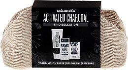 Kup Zestaw kosmetyków z węglem aktywnym - Schmidt's Activated Charcoal Trio Selection (deo 58 ml + soap 142 g + t/paste 100 ml + bag)