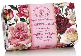 Kup Naturalne mydło w kostce Ogród różany - Saponificio Artigianale Fiorentino Rose Garden Scented Soap