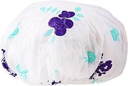 Kup Czepek prysznicowy, 9298, biało-fioletowy - Donegal Shower Cap