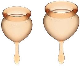 Kup Zestaw kubeczków menstruacyjnych, pomarańczowy - Satisfyer Feel Good Menstrual Cup Orange