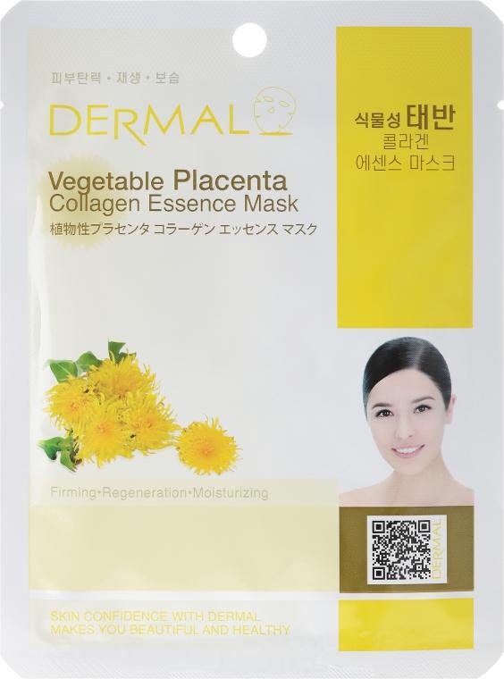 Kolagenowa esencjonalna maseczka do twarzy Roślinna placenta - Dermal Vegetable Placenta Collagen Essence Mask — фото N1