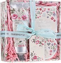 Kup Zestaw prezentowy - Baylis & Harding Royale Garden Rose, Poppy And Vanilla Set (sh/cr 130 ml + b/butter 100 ml + soap 150 g)