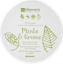 Kup Odżywczy krem do rąk z oliwą Mięta i cytryna - La Saponaria Hand Cream Mint and Lemon